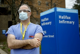 Dr. Tony O'Leary, medical director of critical care for Nova Scotia Health, said the province has enough beds and equipment to expand its ICU capacity, but the expansion would strain staff. He is seen outside the Halifax Infirmary on Wednesday May 5, 2021.