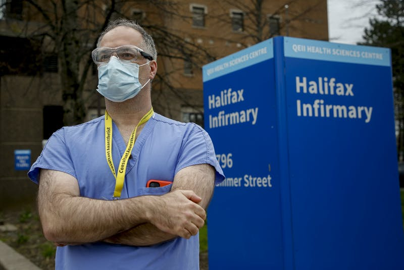 Dr. Tony O'Leary, medical director of critical care for Nova Scotia Health, said the province has enough beds and equipment to expand its ICU capacity, but the expansion would strain staff. He is seen outside the Halifax Infirmary on Wednesday May 5, 2021. - Tim  Krochak
