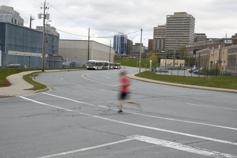 The intersection of Upper Water Street and Valour Way in Halifax Thursday May 6, 2021. - Tim  Krochak