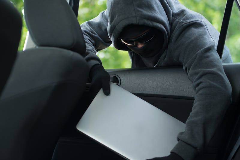 Bait Cars sometimes have valuable items, such as laptops, planted in them to make them more attractive to thieves. 123rf stock photo - POSTMEDIA