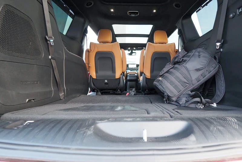 The Pinnacle comes with two rows of seating that collapse into the floor and an intelligent AWD system. Justin Pritchard/Postmedia News - POSTMEDIA