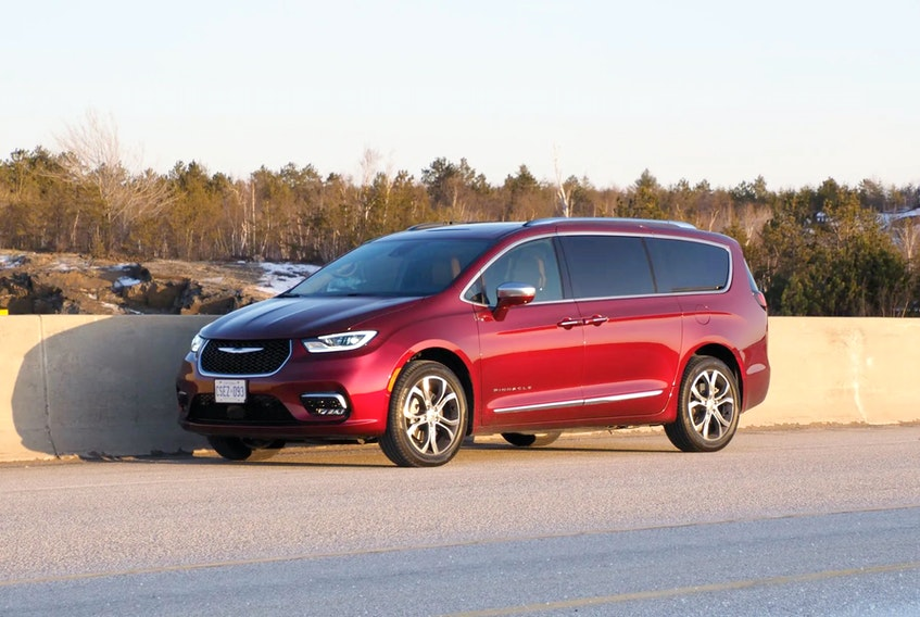 2021 Chrysler Pacifica Pinnacle rides exactly the way it looks like it rides: big, long, and soft. Justin Pritchard/Postmedia News
