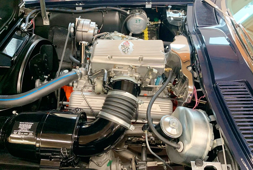 Rare factory fuel injection under the hood of the rare 1963 Corvette sport coupe. Alyn Edwards/Postmedia News