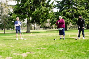 As the Province of Alberta begins to slowly reopen the economy, golf courses were allowed to open earlier this month, and golfers both local and from out of town took advantage as they hit the links at the Leduc Golf Club. (Alex Boates)