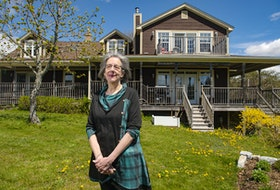 Cathie Watson, owner of By the Bay Bed and Breakfast, poses for a photo outside her Glen Haven establishment on Friday, May 7, 2021. Watson, and some other bed and breakfast owners, are calling on the provincial government to provide support to their industry.
