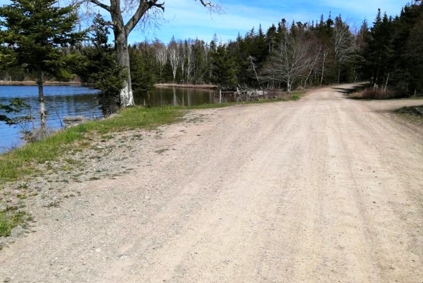 This is where the provincially serviced part of Stoney Point Road in Orangedale, Inverness County, ends. Residents are wondering why the province suddenly decided to stop maintaining the last two kilometres of the rural roadway after 40 years. Contributed
