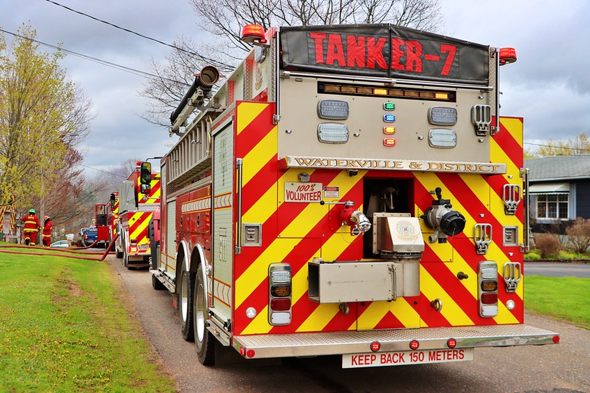 Fire departments from Berwick, Aylesford and Waterville teamed up to battle the blaze. – Adrian Johnstone - Contributed