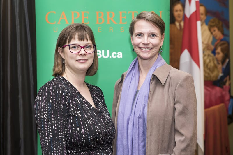 Dana Mount, left, and Deanne van Rooyen are co-directors and co-founders of the bachelor of arts and science in environment program at Cape Breton University — the first interdisciplinary degree program at the school. CONTRIBUTED • CAPE BRETON UNIVERSITY