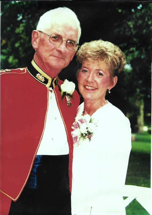 John and Gladys Stewart were filled with pride and happiness at the wedding of their daughter, Jacalyn, in 1999. - Contributed