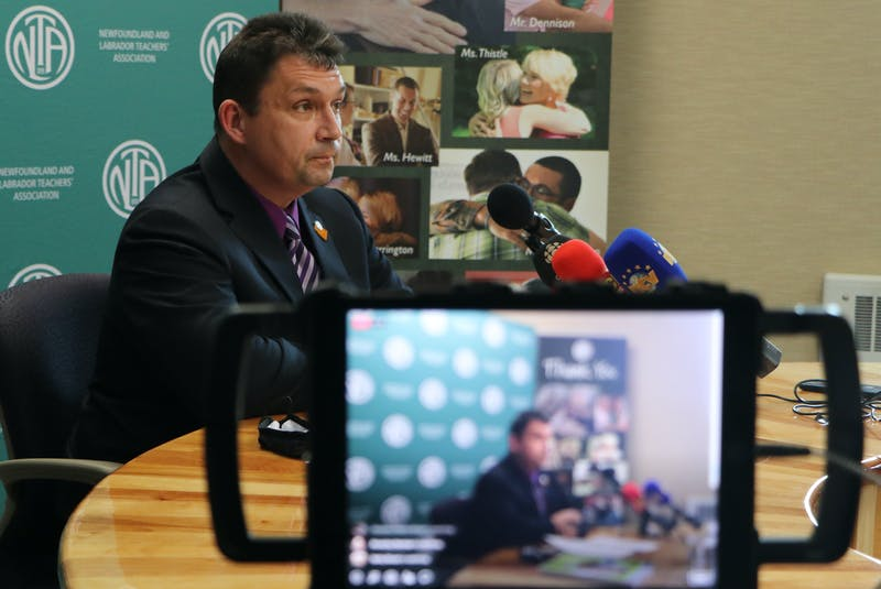 Dean Ingram, president of the Newfoundland and Labrador Teachers' Association, said the Greene Report's recommendations on the province's public K-12 education system were appalling to teachers. He also said the association would fight any changes to its collective agreement. - Glen Whiffen/The Telegram