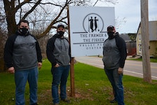 The Farmer and The Fisher co-owners, from left, William MacLean, Jeff Noye and Damien Enman, say they are excited to open their new restaurant at the Stanley Bridge Resort.