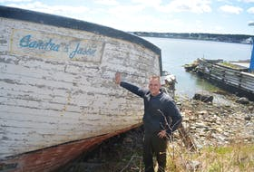 The Sandra and Jason was the first boat Dave and Bill Russell had built for Bay Roberts Seafood in the early 1980s. The boat is named for manager Jason Russell, shown here, and his cousin, Sandra.