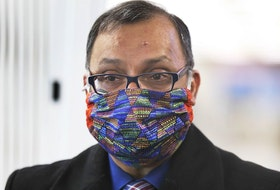 Connect safely on Mother's Day this Sunday. A masked Windsor-Essex Medical Officer of Health Dr. Wajid Ahmed is shown on March 3, 2021, at the vaccination clinic set up at the WFCU Centre in Windsor.