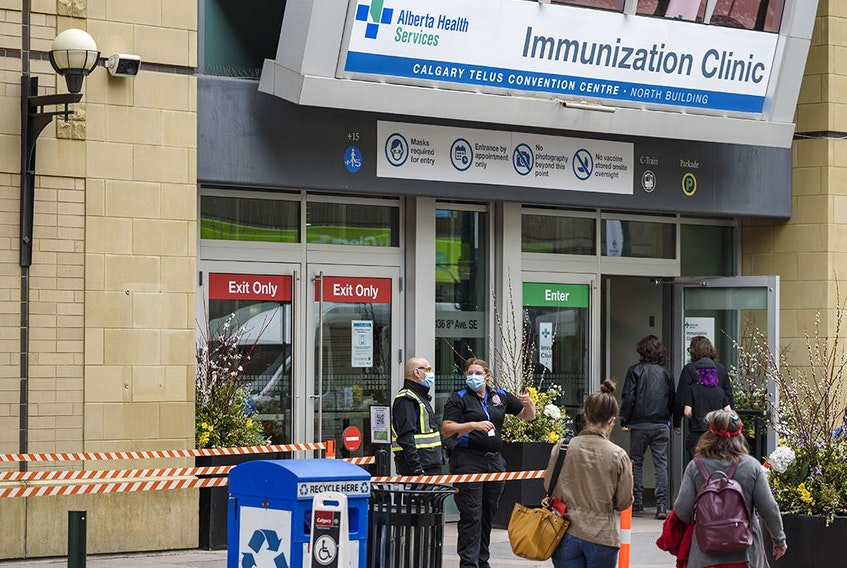 The immunization clinic at Telus Convention Centre was photographed on Thursday, May 6, 2021.