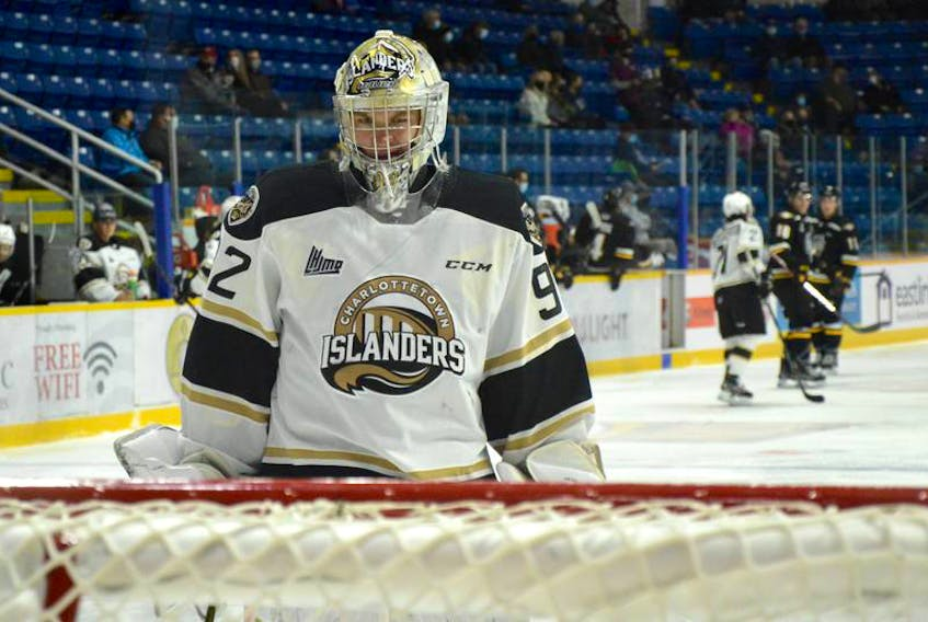 River Denys' Colten Ellis and the Charlottetown Islanders are currently playing the Acadie-Bathurst Titan in the Quebec Major Junior Hockey League Maritime Division final. The Islanders finished first overall in the six-team Maritime Division. JEREMY FRASER/CAPE BRETON POST