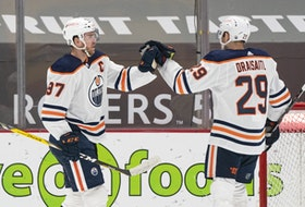 Edmonton Oilers stars Connor McDavid (left) and Leon Draisaitl are once again lighting up the NHL.