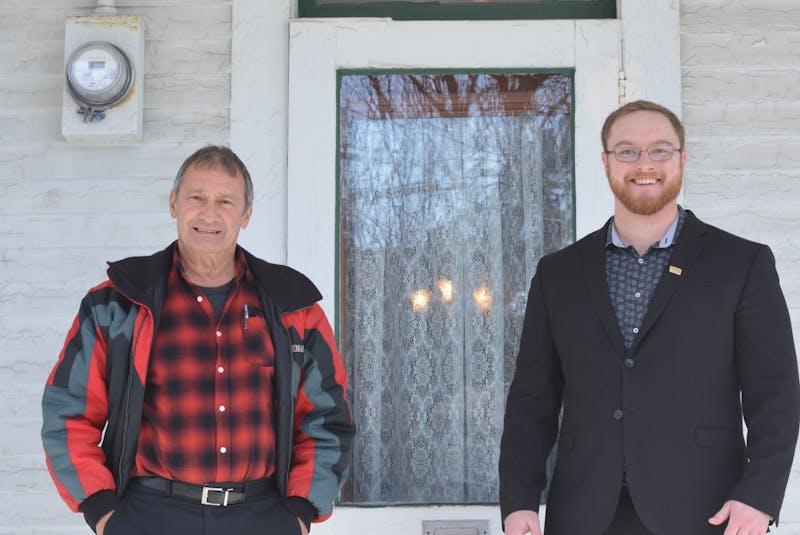 Charles Horwood (left), owner of Kalmia, and realtor Brandon Welcher. — Barb Sweet