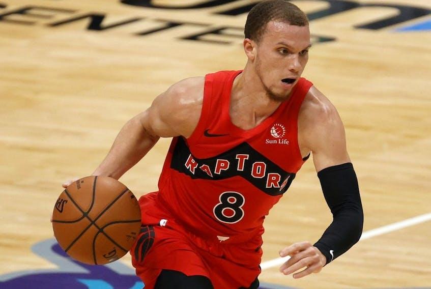 Malachi Flynn of the Toronto Raptors.