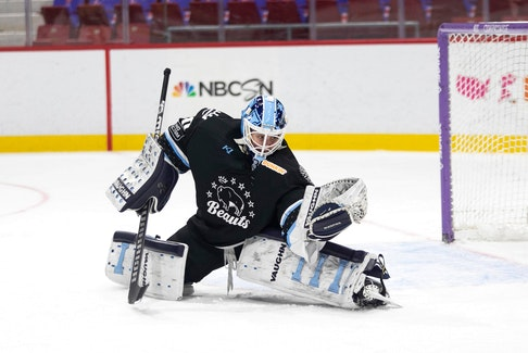 Carly Jackson of Hastings, N.S. in action with the Buffalo Beauts this past season. Jackson has re-signed with the Beauts after being the National Women's Hockey League team's third overall selection in last June's entry draft.