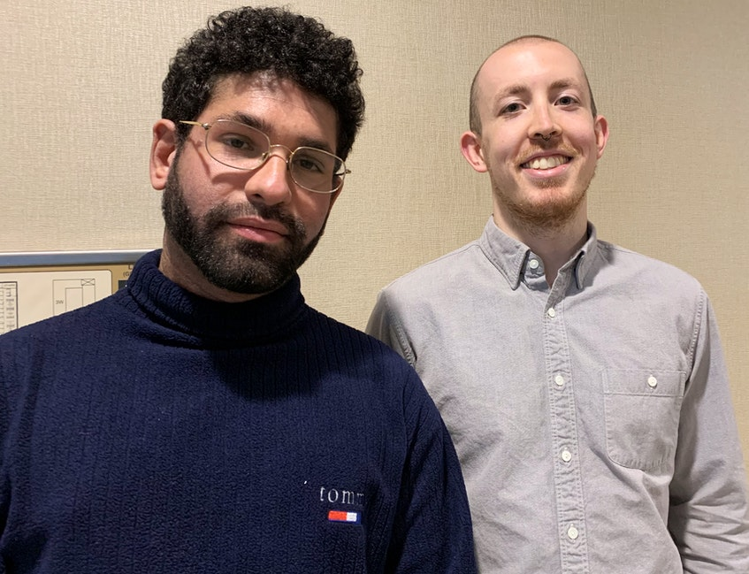 Eduardo Araujo (left) and Zach Langdon are members of Social Justice Co-op NL. - Barb Sweet