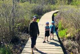Heather Fegan and her daughters, Rosie and Anna, recently enjoyed a hike along the Frog Pond Trail, and added in a trip along the Dingle and through a wooded path for some extra adventure.