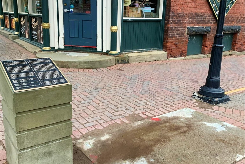 The city has removed the statue of John A. Macdonald from the corner of Queen and Richmond streets in Charlottetown.