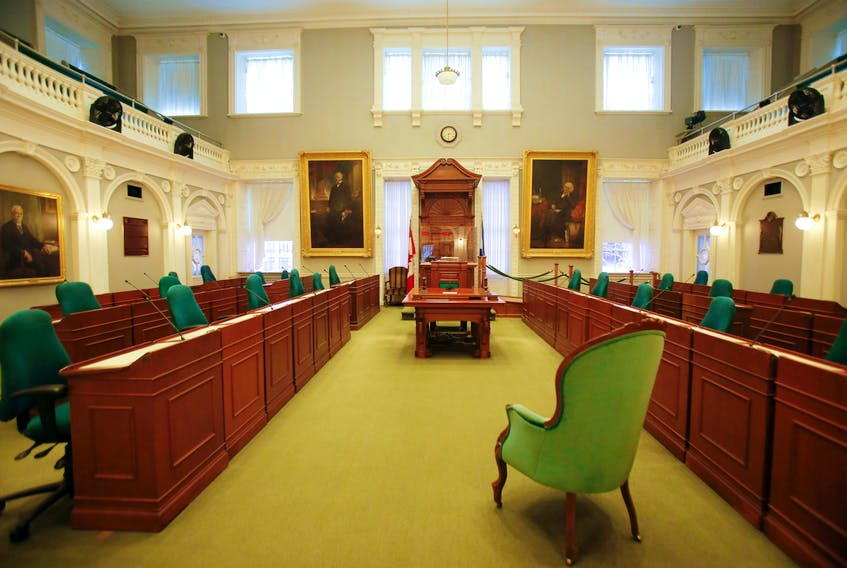 The legislative chamber is seen at Province House in Halifax in this file photo. The Liberals now hold 24 seats in the 51 seat House and have a minority government as of today.