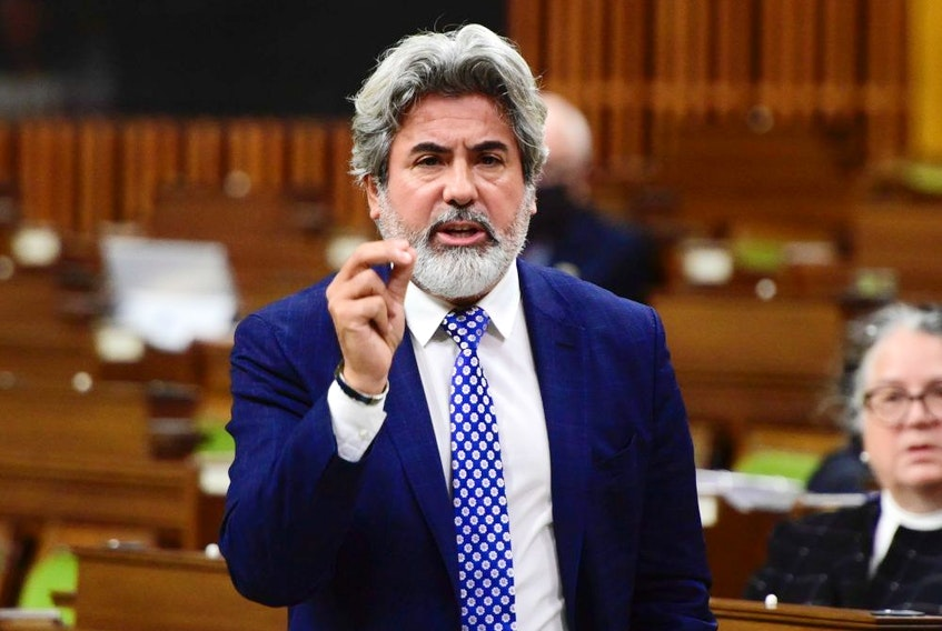 Leader of the Government in the House of Commons Pablo Rodriguez responds to a question during question period in the House of Commons on Parliament Hill in Ottawa on Friday, Oct. 2, 2020.