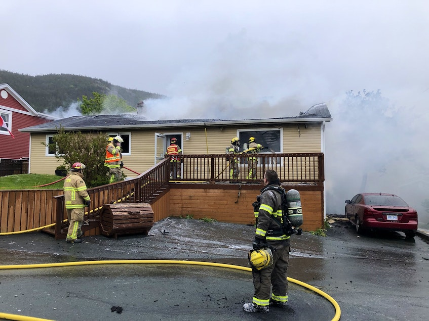 A fire destroyed a home in Portugal Cove-St. Philip's Thursday, June 10. - Joe Gibbons