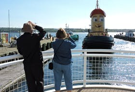 About a dozen fans of Theodore TOO, the life-size replica of kids' TV star Theodore Tugboat, gathered at the Maritime Museum of the Atlantic on Thursday morning to bid bon voyage to the beloved Halifax waterfront icon. The boat is heading to a new home in Hamilton to become an ambassador for renewable water resources, marine industry employment and Nova Scotia tourism.