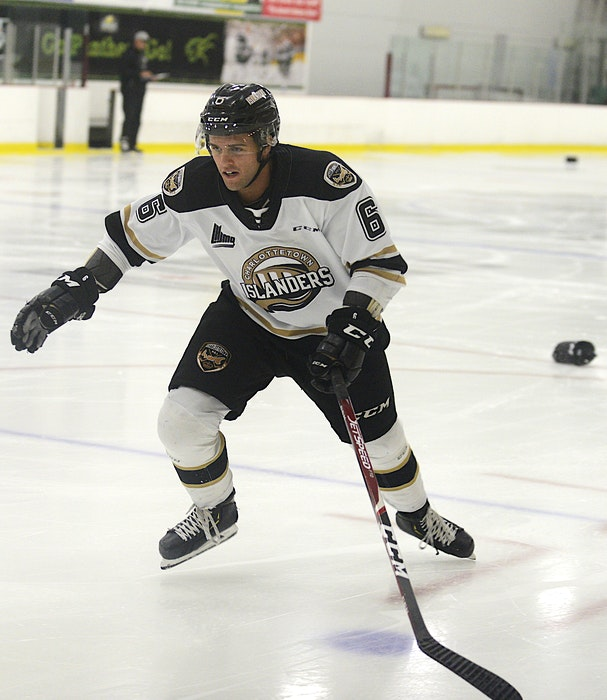 Noah Laaouan takes part in testing at the start of the Charlottetown Islanders' 2020-21 training camp at MacLauchlan Arena at UPEI. - Jason Malloy