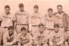 The Glace Bay Miners captured the 1938 Cape Breton Colliery League baseball championship, defeating the New Waterford Dodgers in the final. From left, front row, Lester Crabb, Nap Ross, Lou Lowe, Ralph Bellrose, Fred Noble and Bill Jones; back, Del Bissonette (manager), Stanley Green, Lou Lepine, Melvin Scarmella, Tony Novello, Roy Moore and Bill Chamberlain. CONTRIBUTED