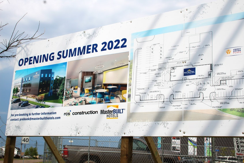 The new hotel, which will be next to the Credit Union Place, is expected to be open for summer 2022. - Kristin Gardiner