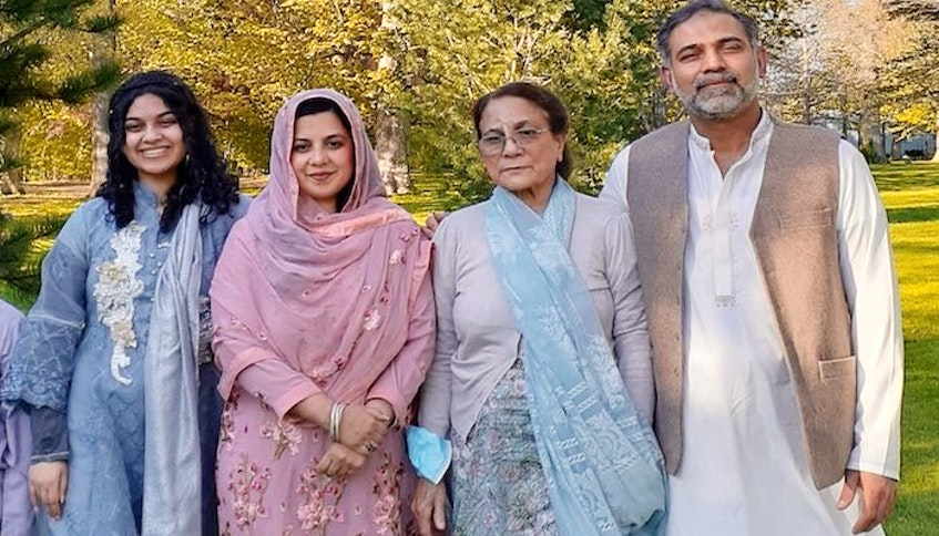 Yumna Afzaal, 15;  Madiha Salman, 44; Talat Afzaal, 74; and Salman Afzaal, 46, were killed when they were run down by a truck June 6 in what police say was an attack motivated by anti-Muslim hate. Madiha's and Salman's son, nine-year-old Fayez, was injured in the attack. — Afzaal family photo