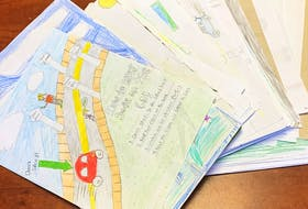 Motorists around the Port aux Basques area will receive safe-driving messages, drawn by area students, at road stops this month.