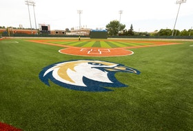 Work around Re/Max Field continues as new artificial turf has been installed with the Riverhawks logo painted on the infield. Unfortunately West Coast League fans will have to wait until 2022 to see the new team play in the updated river valley facility.