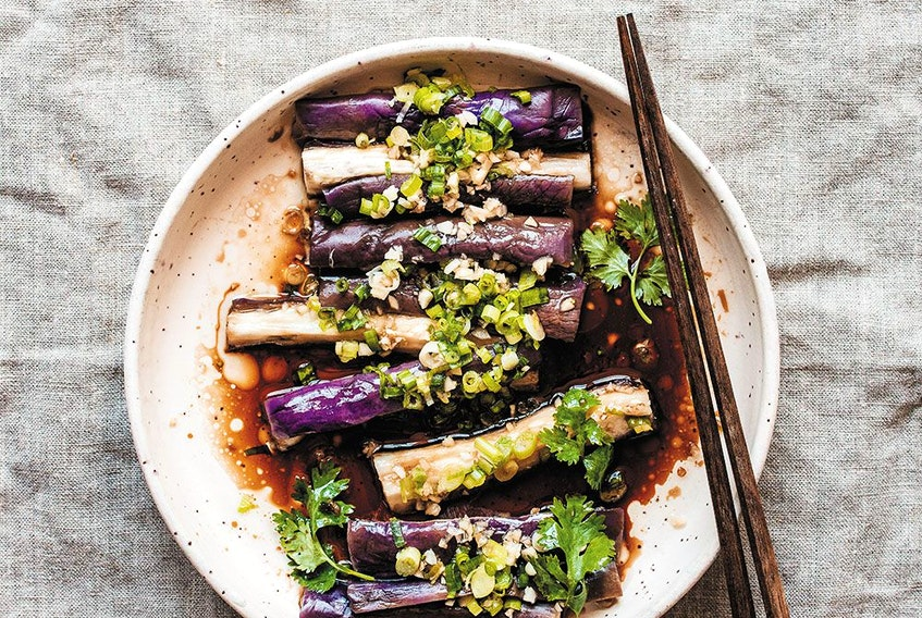 Seasoned steamed eggplant from My Shanghai.