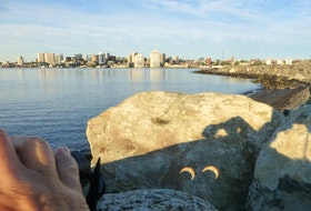 Pat McKay took this photo of Thursday morning's annular solar eclipse. She caught the image at Dartmouth Cove, just across the harbour from Halifax, using her binoculars to back-project the sun's image onto a nearby rock. It was a completely safe way to view the eclipse as she had her back to the sun the entire time.