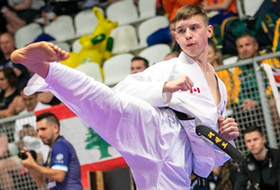 Ryan O'Neil of Halifax wass one of eight athletes selected by Karate Canada to represent the country at this week's World Karate Federation's Olympic Qualification Tournament in Paris. O'Neil lost in the first round on Friday. - Contributed