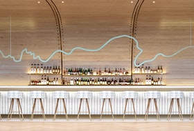 A rendering of Drift's Salon Bar at the Muir hotel in Queen's Marque in downtown Halifax.