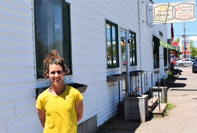 Brookfield's Heidi Cooke stands out in front of the family business since 1953, Brookfield Bakery, as well as Hurricane Heidi's Café which began in 2007.