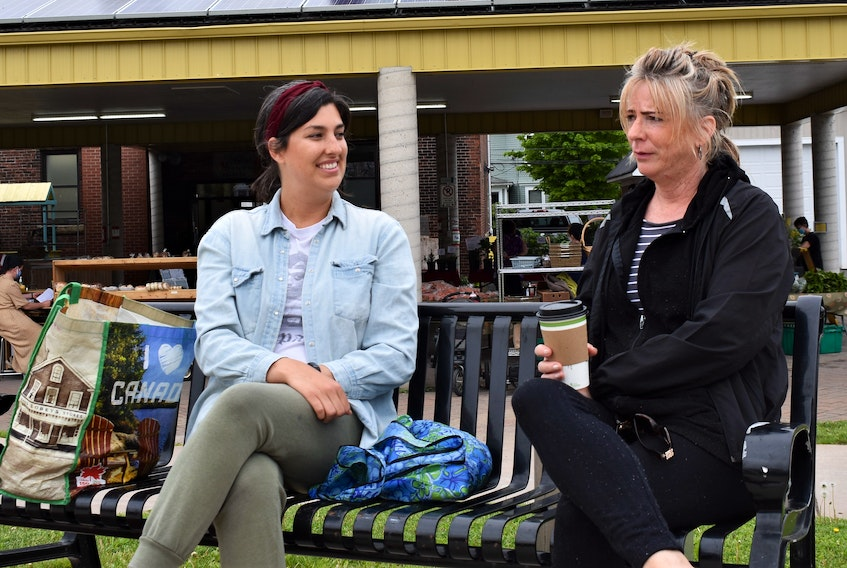 Ashley and Robyn Canfield shared their thoughts on post-COVID wishes after visiting the Truro Famers' Market.