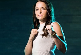 Local bantamweight boxer McKenna Tansley, seen here on June 10, 2021, in Edmonton, is off to fight in the Chicago area for the Canadian bantamweight title.