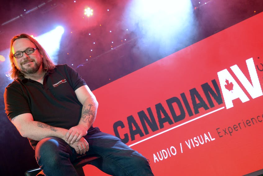Andy Jordan head of operations at Canadian AV in company's new studio  Keith Gosse/The Telegram