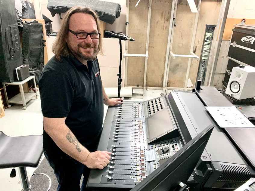Andy Jordan, Canadian AV director of operations, said the company was hit hard since COVID-19, but has created an in-house stage and studio to help organizations broadcast shows and functions virtually. - Rosie Mullaley