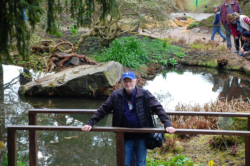 Doug McGee, former associate editor at the Cape Breton Post, fully enjoyed his retirement years. This photo was taken at the Botanical Gardens in Birmingham, U.K., in October 2019. McGee died Friday at the age of 71. CONTRIBUTED