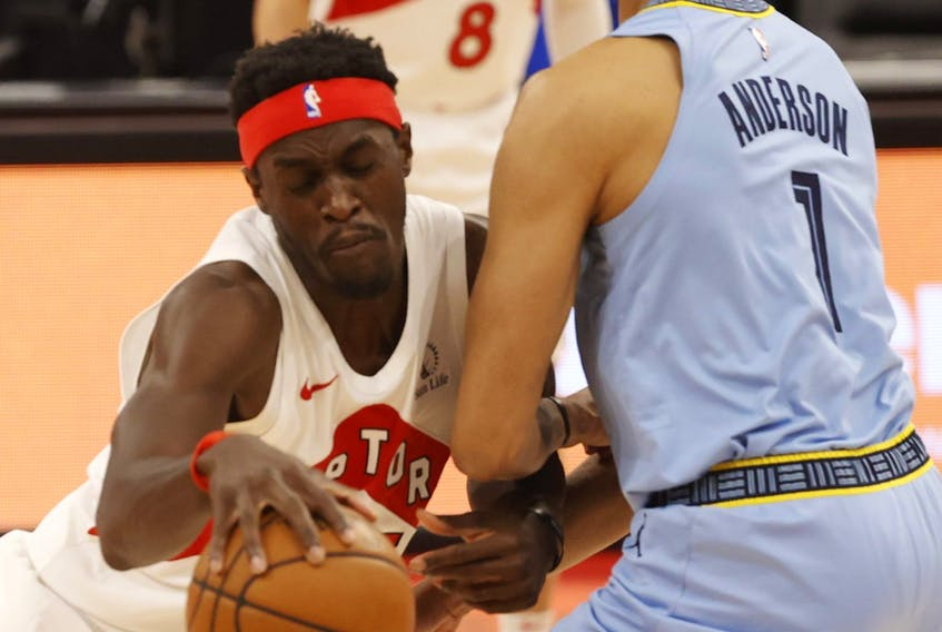 Pascal Siakam in his last game of the season, against Memphis.