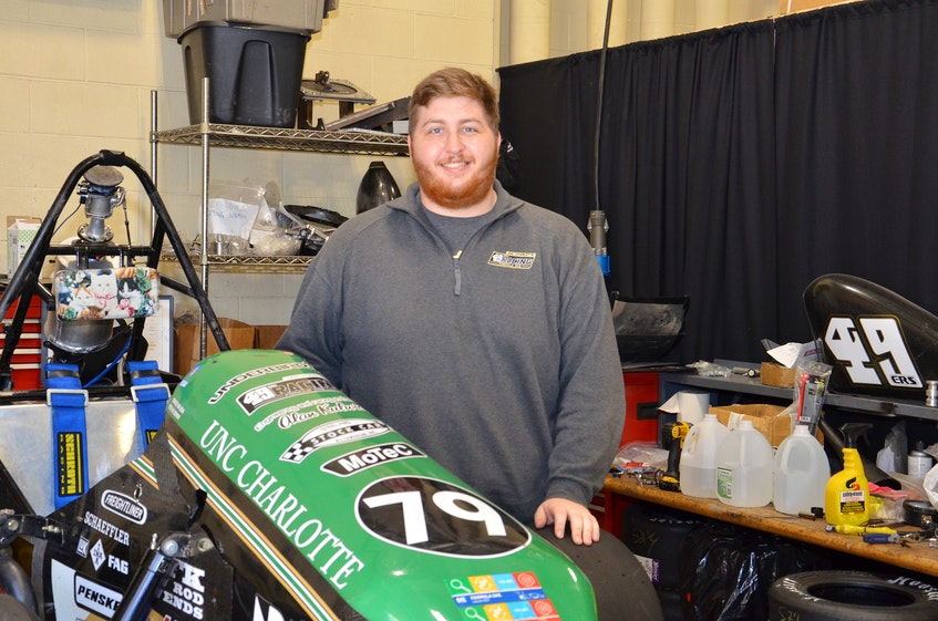 Spencer Nichols would like to work for a Formula 1 racing team someday after completing Ph.D. studies focused on aerodynamics at UNC Charlotte. - Contributed