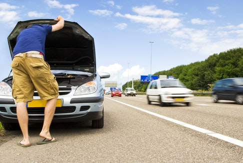 Be prepared to safely pull off to the side of a busy roadway, for whatever reason you need to, by knowing what to do in any given situation. 123rf stock photo