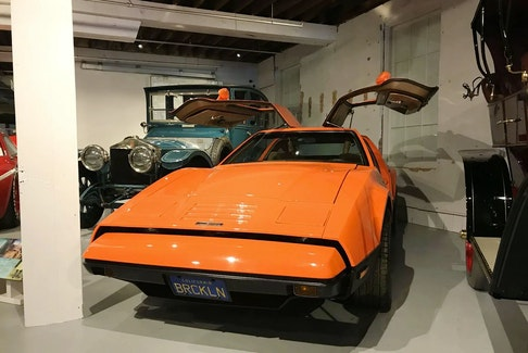 A 1975 Bricklin at the Canadian Automotive Museum. The cars were built in New Brunswick. Canadian Automotive Museum photo